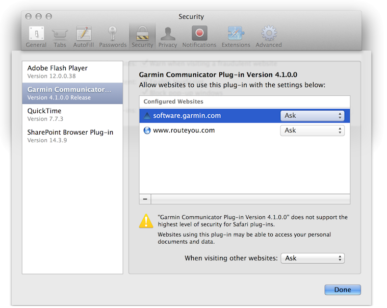 Installation of a Garmin GPS device on a PC or Mac for usage